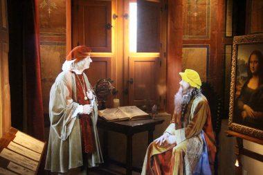 Léonard de Vinci en son château du Clos Lucé à Amboise Val de Loire