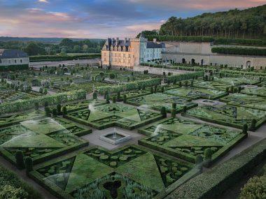 Château et jardins de Villandry dans le Val de Loire